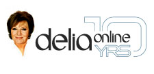 Delia Online 10th year brand identity